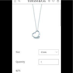 Tiffany's Elsa peretti necklace